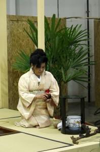 Demonstração de cerimônia do chá