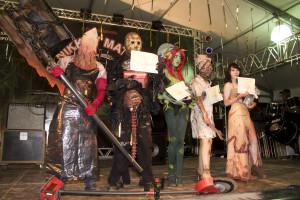 Os vencedores do concurso cosplay