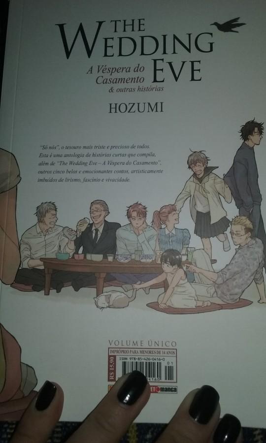 Personagens dos contos na contra-capa